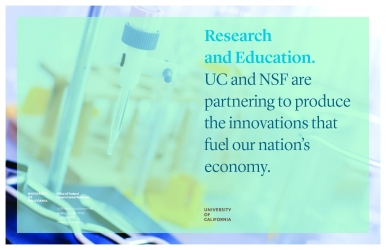 UC NSF-funded research brochure cover